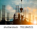 silhouette of engineer and... | Shutterstock . vector #701186521