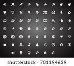 set of flat game icons in...