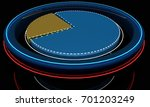 cylinder segment and neon  3d... | Shutterstock . vector #701203249