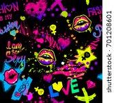 abstract seamless girlish... | Shutterstock .eps vector #701208601