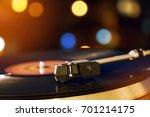 turntable vinyl record player....   Shutterstock . vector #701214175
