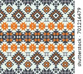 vector seamless ethnic pattern. ... | Shutterstock .eps vector #701216479