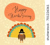 happy thanks giving with hand... | Shutterstock .eps vector #701226361
