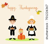happy thanks giving with... | Shutterstock .eps vector #701226367