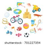 toys and sport equipment | Shutterstock .eps vector #701227354
