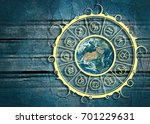 astrological symbols in the... | Shutterstock . vector #701229631