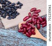soy beans  red beans  black... | Shutterstock . vector #701235061