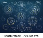 circular vector elements set... | Shutterstock .eps vector #701235595
