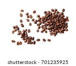 coffee beans. isolated on white ... | Shutterstock . vector #701235925