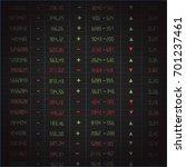 stock exchange board | Shutterstock .eps vector #701237461
