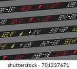 a display of daily stock market ... | Shutterstock .eps vector #701237671