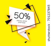 modern paper cut geometric sale ... | Shutterstock .eps vector #701237845