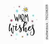 warm wishes merry christmas... | Shutterstock .eps vector #701238205