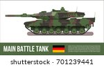 battle german tank modern in... | Shutterstock .eps vector #701239441