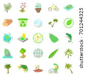 palm icons set. cartoon set of... | Shutterstock .eps vector #701244325