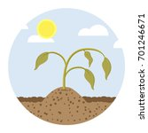 Dying Plant Flat Design Icon