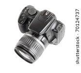 Black Digital Slr Camera...