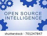 open source intelligence sign... | Shutterstock . vector #701247847