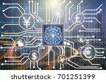 abstract photo of fintech... | Shutterstock . vector #701251399