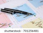 economical stock market graph  | Shutterstock . vector #701256481