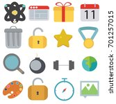 miscellaneous item set vector ... | Shutterstock .eps vector #701257015