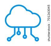 cloud network  | Shutterstock .eps vector #701263045