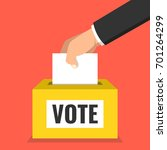 voting concept. hand putting... | Shutterstock .eps vector #701264299