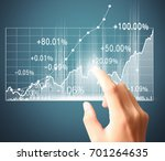 investment concept businessman... | Shutterstock . vector #701264635