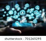 businessman on blurred... | Shutterstock . vector #701265295