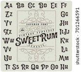classic vintage decorative font ... | Shutterstock .eps vector #701266591