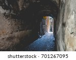 Covered Arch Passage In An Old...