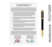 raster illustration of signed... | Shutterstock . vector #701272009