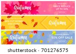 autumn sale banners for... | Shutterstock .eps vector #701276575