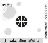 basketball icon. flat ball... | Shutterstock .eps vector #701278444