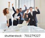 celebration of business team... | Shutterstock . vector #701279227
