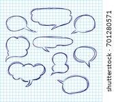 set of bubbles speech  hand... | Shutterstock .eps vector #701280571