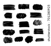 black vector  strokes of marker ... | Shutterstock .eps vector #701280925