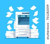 office multifunction printer... | Shutterstock .eps vector #701282059