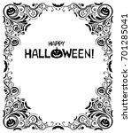 happy halloween  celebration... | Shutterstock . vector #701285041