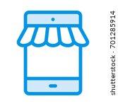mobile shop  | Shutterstock .eps vector #701285914