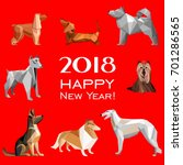 2018 happy new year greeting... | Shutterstock . vector #701286565