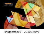triangle geometric shape colors ... | Shutterstock .eps vector #701287099