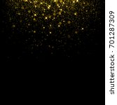gold glitter background with... | Shutterstock .eps vector #701287309