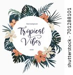 exotic tropical background.... | Shutterstock .eps vector #701288101