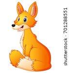vector illustration of cute fox ... | Shutterstock .eps vector #701288551