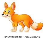 vector illustration of cute fox ... | Shutterstock .eps vector #701288641