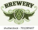 Hop Branch  Brewery Vector Logo.