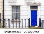 front door of a georgian house... | Shutterstock . vector #701292955