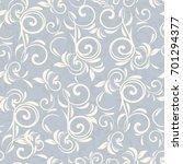 seamless damask pattern.... | Shutterstock .eps vector #701294377