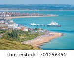 aerial view over eastbourne...